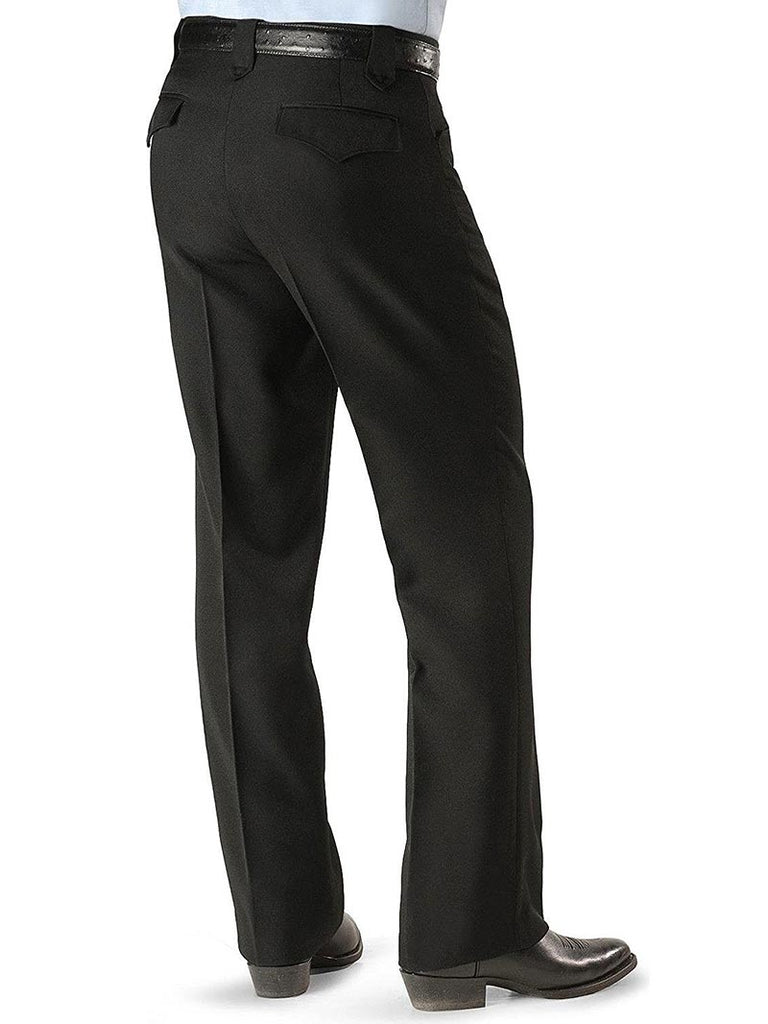 Circle S CP4793 Mens Black Solid Dress Ranch Pants