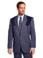 Circle S Mens Sport Coat Western Boise Arrow Jacket CC2976 Navy