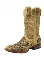 Corral Men's Square Toe Caiman Inlay Western Boots - A1328