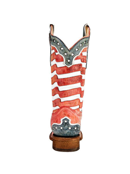 Corral Womens American Flag Square Toe Western Boot A2850