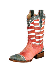 Corral A2850 Ladies Square Toe Western Boot American Flag