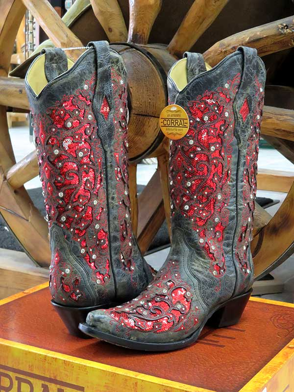 Corral A3534 Ladies Inlay Cowgirl Boots