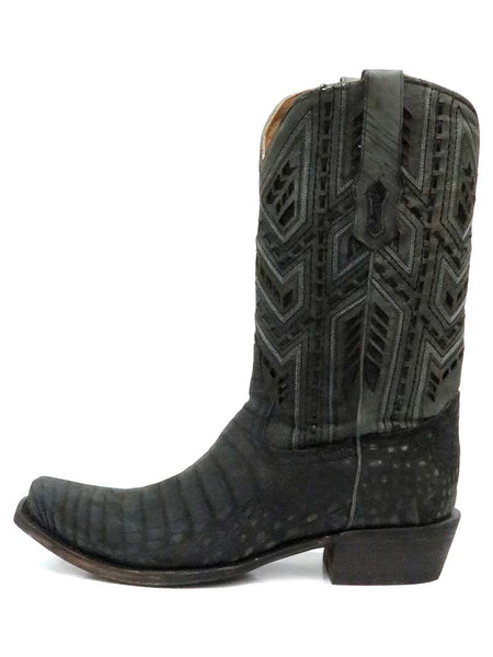 Corral A3633 Mens Caiman Designer Stitch Western Boot Grey
