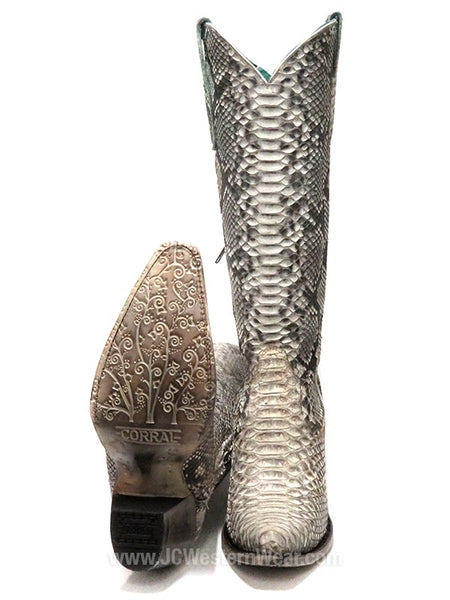 Corral A3789 Womens Python Zipper Tall Boots Natural
