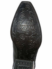 Corral G1417 Ladies Full Inlay Snip Toe Cowgirl Boot Black