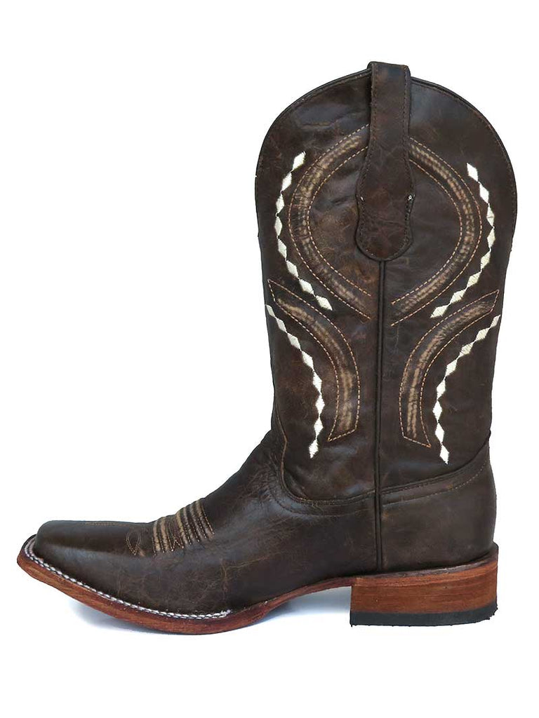 Corral Mens Brown Embroidery Square Toe Western Boots L5399 Circle G