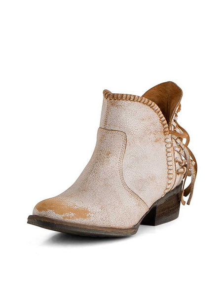 Womens Q0004 Circle G by Corral  Fringe Shortie Ankle Boot