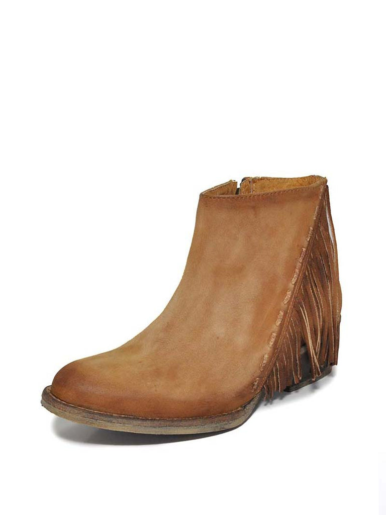 Corral Circle G Womens Distressed Honey Side Fringe Bootie Q0035