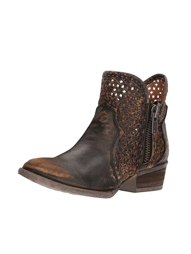 Circle G Q5021 Womens Cut-out Shortie Ankle Boot Brown