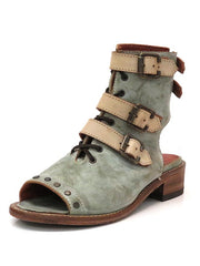 Corral F1189 Womens Western Moss Lace and Straps Sandal Distressed Green