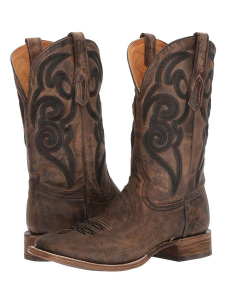 Corral A3303 Mens Distressed Vintage Square Toe Boots Brown
