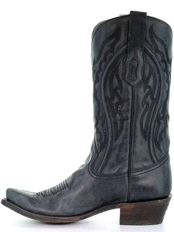 Corral A3450 Mens Blue Jean Embroidery Square Toe Cowboy Boots Grey