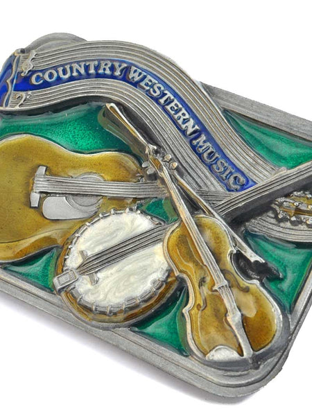 Country Western Music Instruments Belt Buckle C150