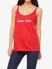 Country Tees Womens Come Over Tank Top CT0001 Red