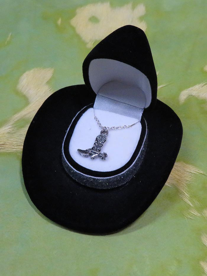 Cowboy Boot Necklace with Cowboy Hat Gift Box HN-1410 All Colors