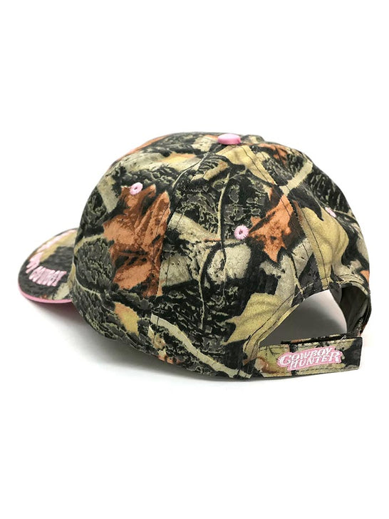 WFA CCAMO2 Ladies Cowgirl Hunt Club Embroidered Cap Camo back view