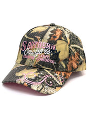 WFA CCAMO1 Ladies Southern Cowgirls Love Country Cowboy Cap Camo Front View