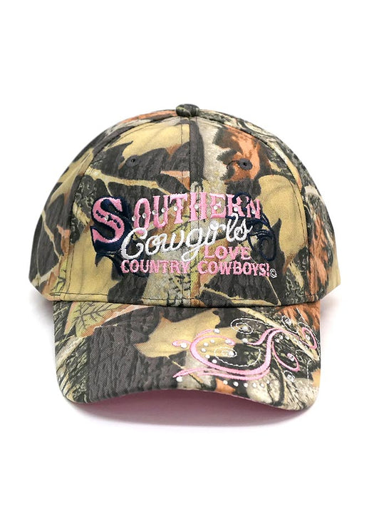 WFA CCAMO1 Ladies Southern Cowgirls Love Country Cowboy Cap Camo Front Side
