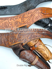 Western Gun Belt and Double Rig Holsters