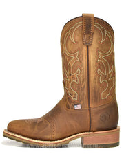"Double H DH3560 Mens 11"" USA Made Domestic Wide Square Toe Boot Brown"