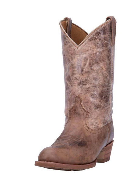 Dingo Mens Brown Leather R Toe Western Boots DI5771