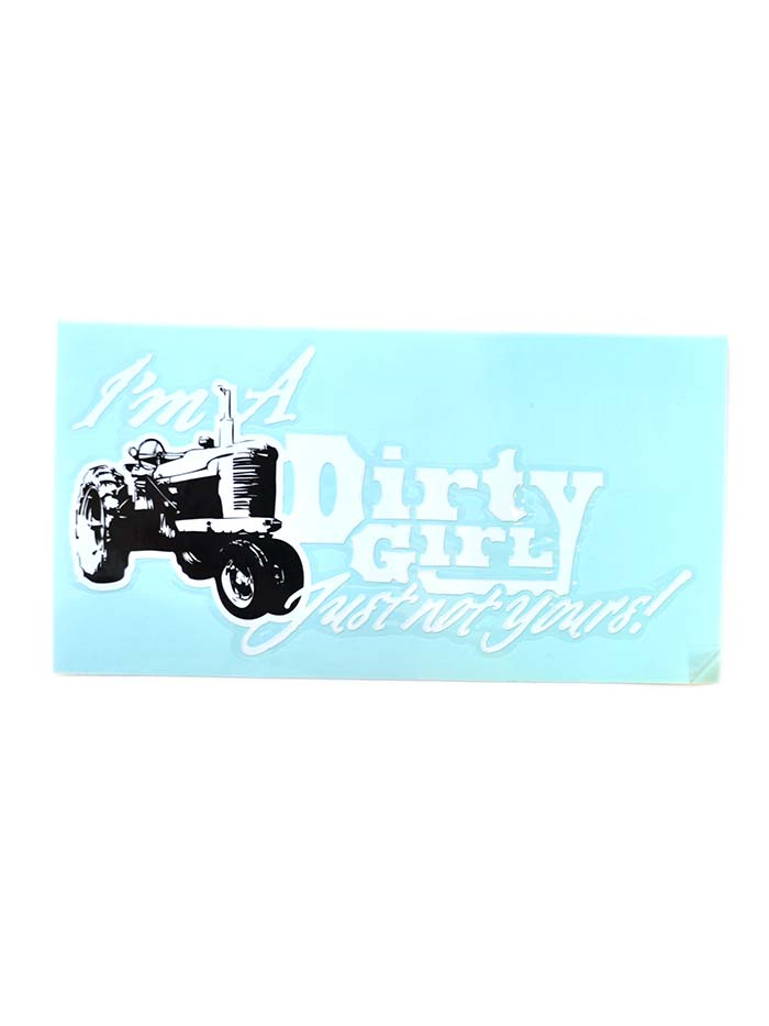 Dirty Girl Window and Bumper Sticker 9x4