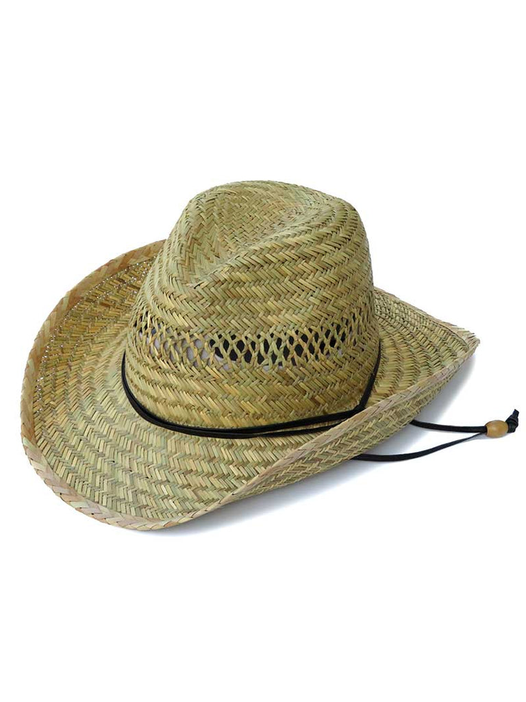 Dorfman Pacific Mens Western Rush Straw Hat MS570S-NAT