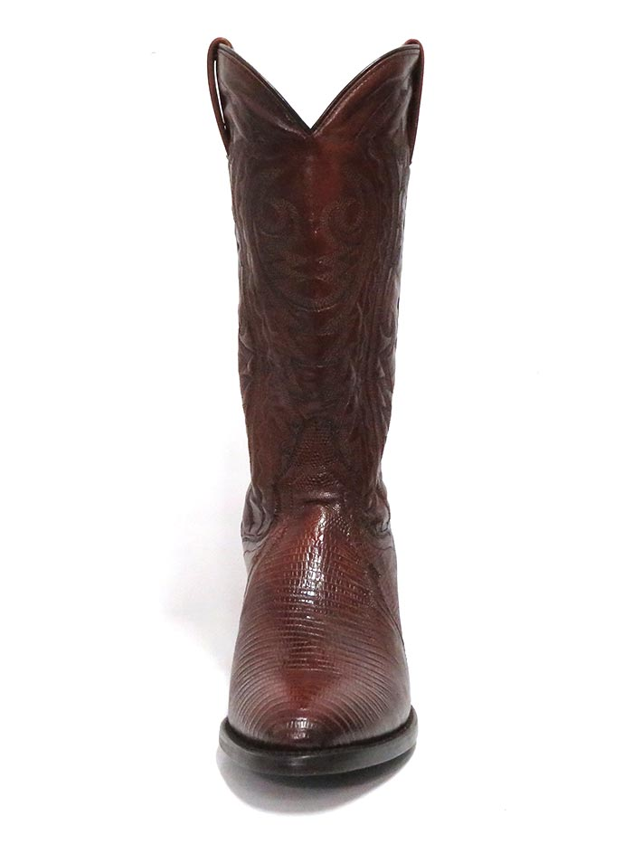 Dan Post DP2351R Mens Raleigh Lizard Western Boot Antique Tan Front and Back