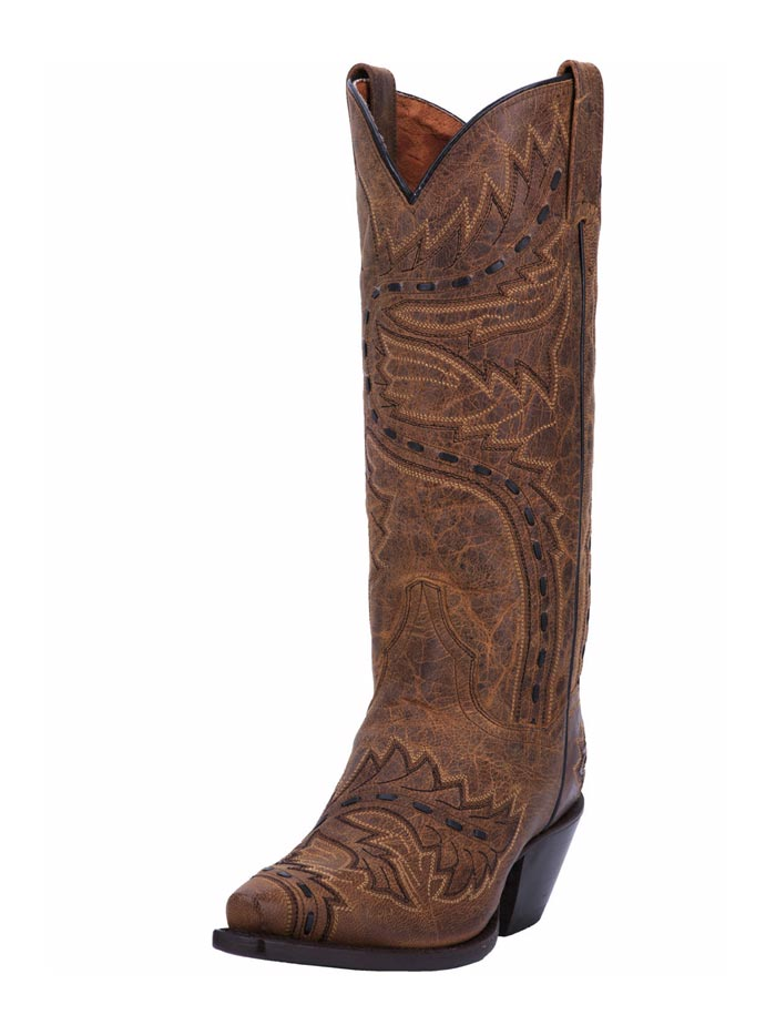 Dan Post DP3422 Womens Sidewinder Western Boot Tan Front