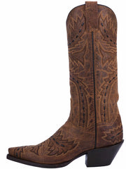 Dan Post DP3422 Womens Sidewinder Western Boot Tan Side