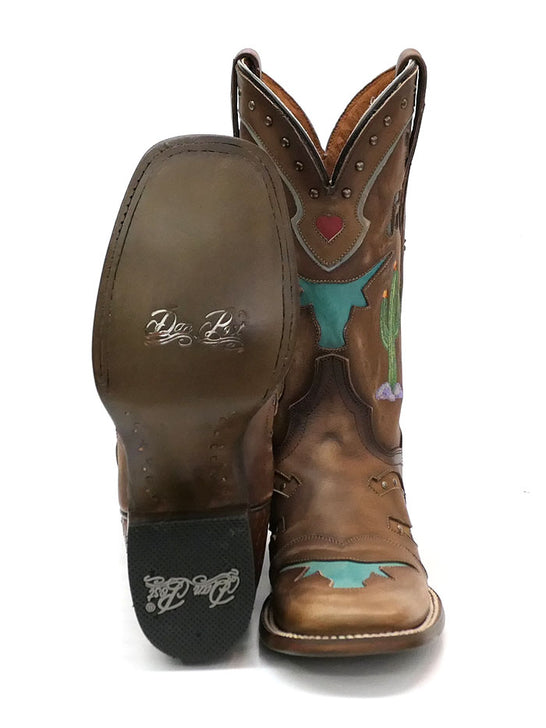 "Dan Post DP4646 Womens 11"" Western Dream Cowgirl Boots Tan"