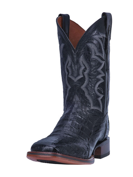 Dan Post DP4805 Mens Kingsly Caiman Square Toe Boot Black Front