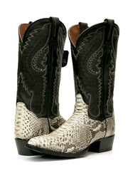 Dan Post DPP3036 Mens Omaha Python Western Cowboy Boot Natural Pair