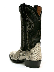 Dan Post DPP3036 Mens Omaha Python Western Cowboy Boot Natural Heel