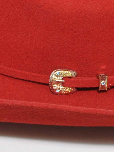 Bullhide Kingman 4x Felt Red Hat with buckle Hatband 0550R Bullhide - J.C. Western® Wear