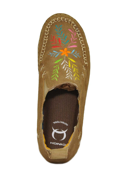 Cinch CCW3021 Womens Embroidered Slip On Shoes TAN