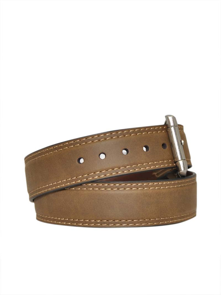 Danbury Mens Chocolate Leather Work Belt 5721500