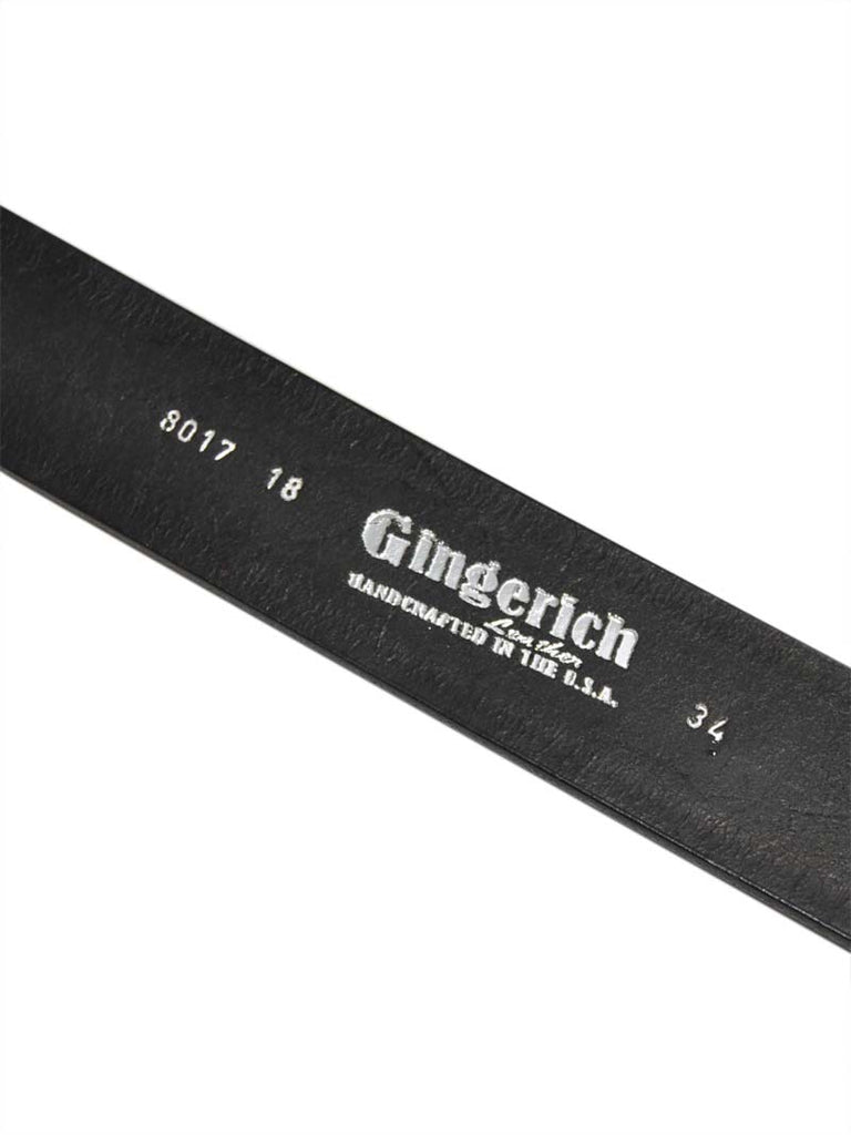 Gingerich Handcrafted USA Made Heavy Duty Work Belt 8017-18 Black