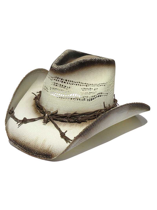 Dallas Mens GHOST RIDER Barbwire Skull Straw Hat
