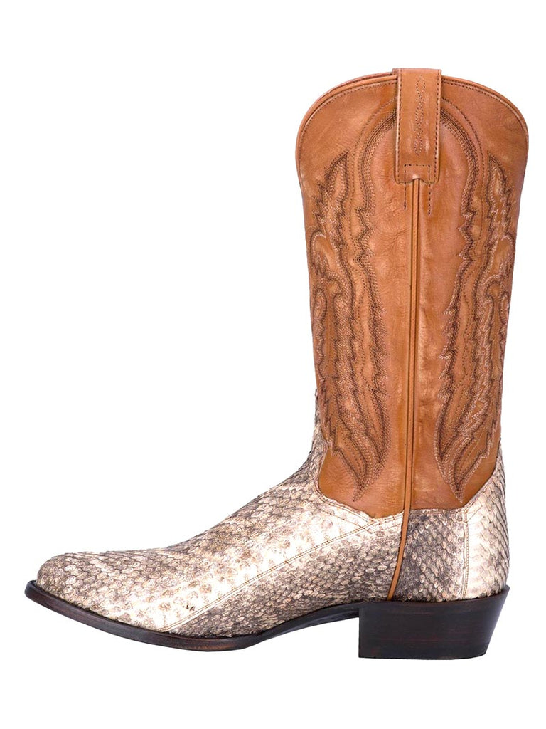 Dan Post DP3017 Mens Venom Rattle Snake Boots Natural Front view