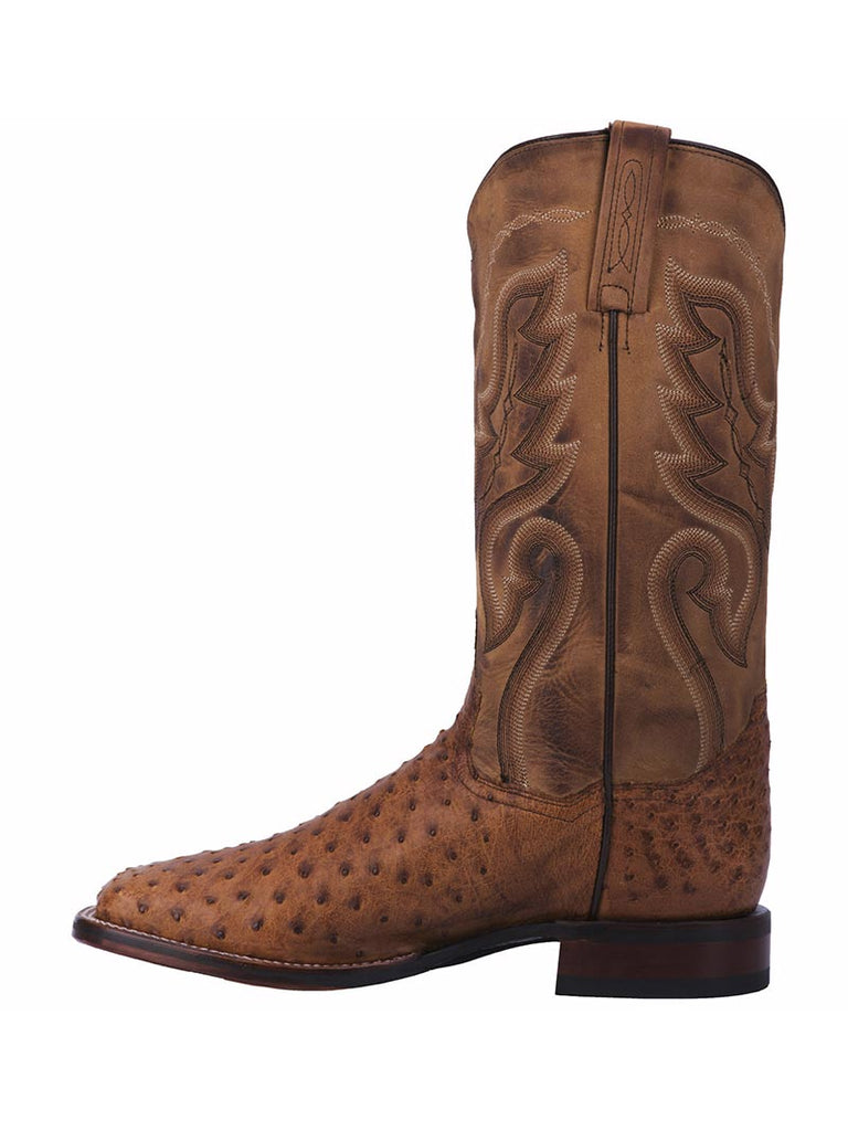 Dan Post DP2984 Mens Chandler Ostrich Skin Western Boot Brown