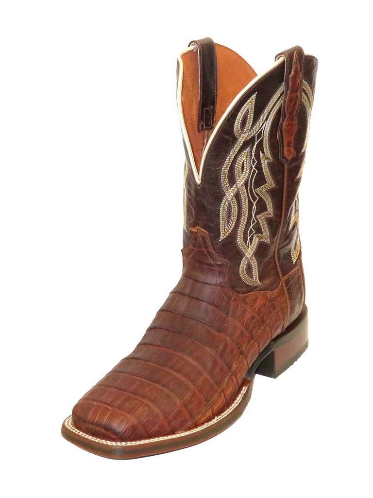 Dan Post Mens Cognac Caiman Tail Square Toe Boot DP4536
