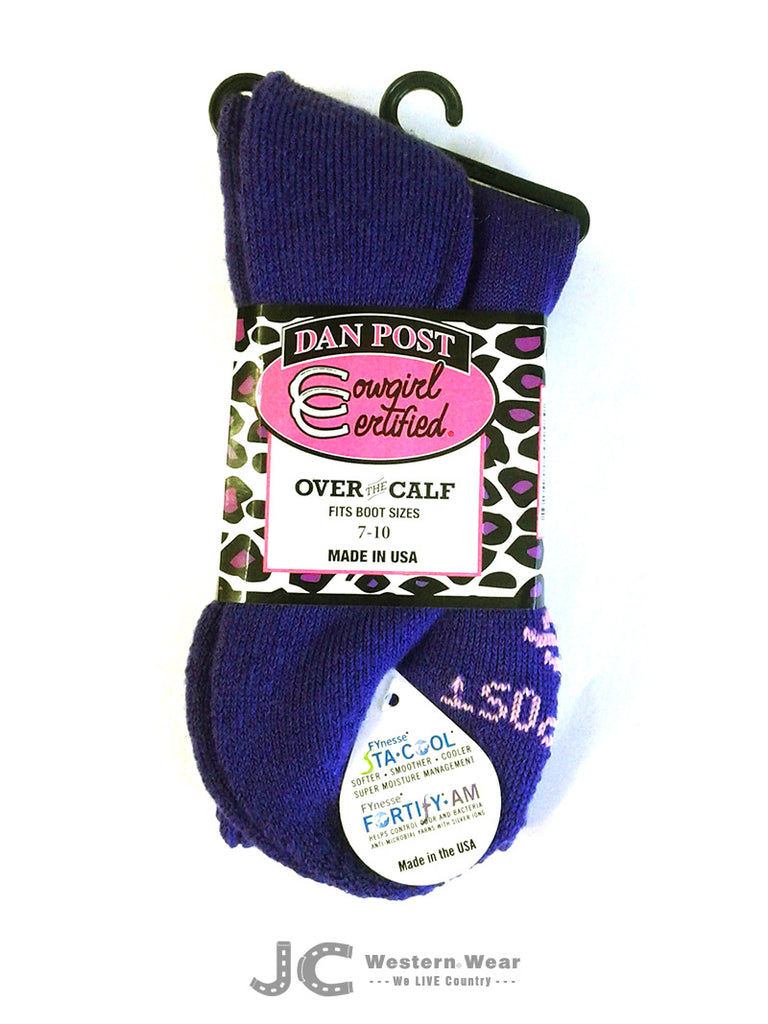 Dan Post Over The Calf Color Boot Socks DPCGC9-PL DPCGC9-PK Pink Blue