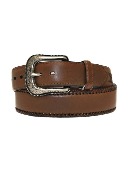 Danbury Mens Chocolate Brown Heavy Leather Work Belt 5712500 Danbury - J.C. Western® Wear