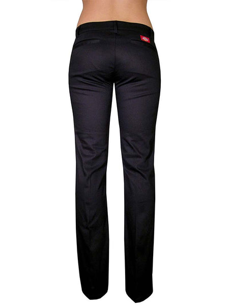 Back of Dickies Girl Juniors Worker 2 Back Pockets Bootcut Pant N882-BLK Black