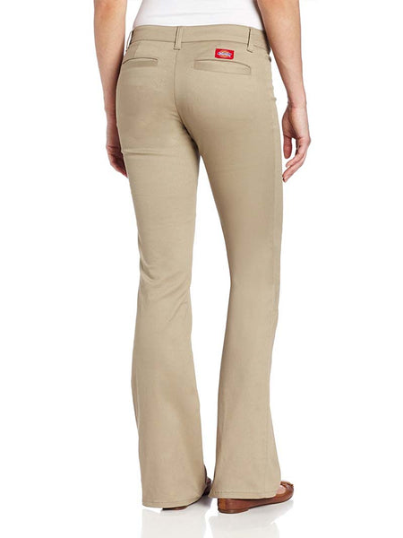 Dickies Girl Juniors Worker 2 Back Pockets Bootcut Pant N882-KHA Khaki