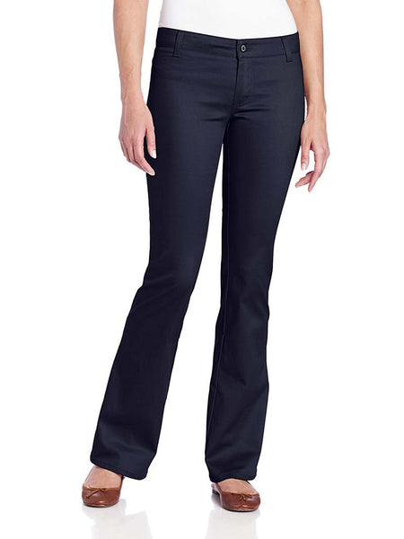 Dickies Girl Juniors Worker 2 Back Pockets Bootcut Pant N882-NVY Navy