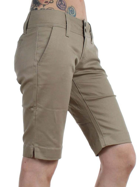 Dickies Juniors 11'' Double Button 4 Pocket Bermuda Shorts 1587JKH Khaki (D)