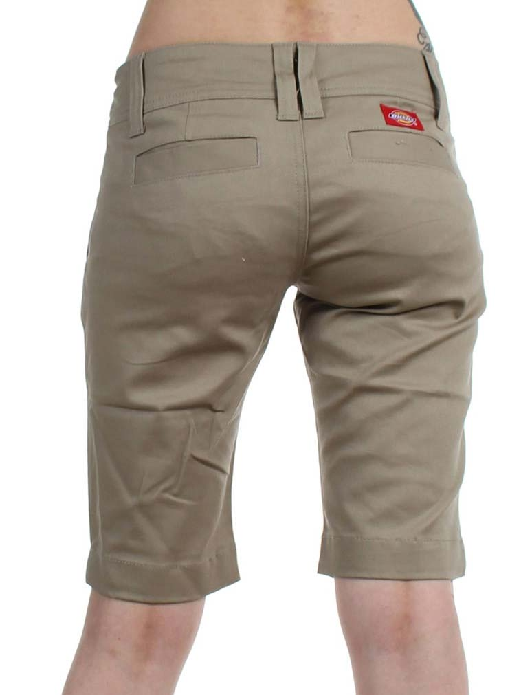 fa5500b2c ... Dickies Juniors 11   Double Button 4 Pocket Bermuda Shorts 1587JKH  Khaki ...