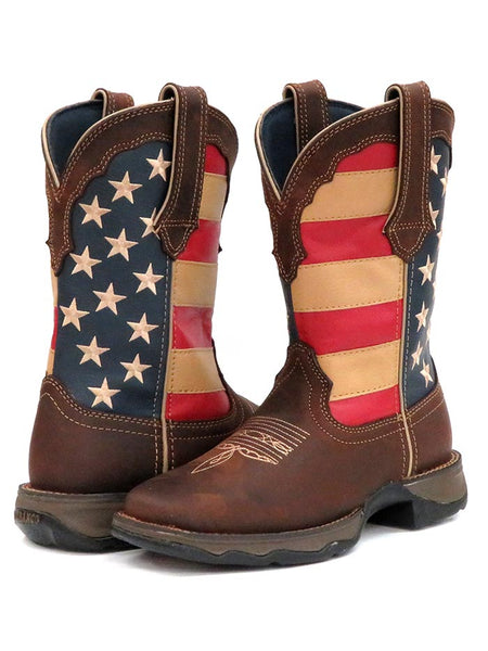 Women's Durango Patriotic Pull-On Flag Boots RD4414 Pair at JC Western Wear